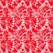Lace Pattern in Red