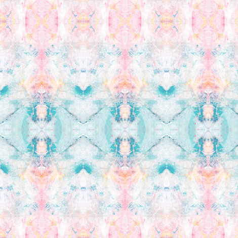 Painter's Palette Pink & Aqua  fabric by shi_designs on Spoonflower - custom fabric