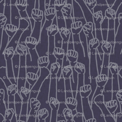 Protest Fists on Dark Purple