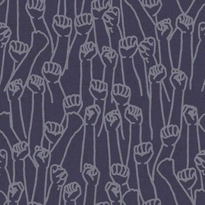 Protest Fists on Dark Purple