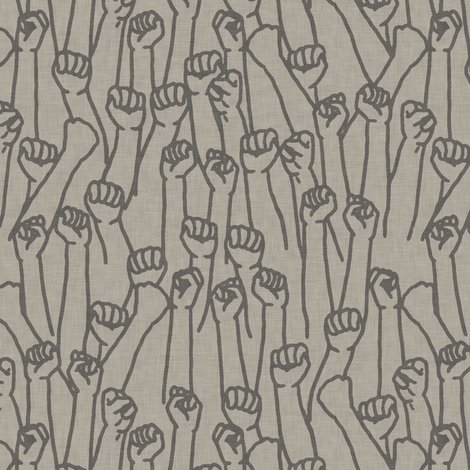 Protest Fists on Gray fabric by landpenguin on Spoonflower - custom fabric