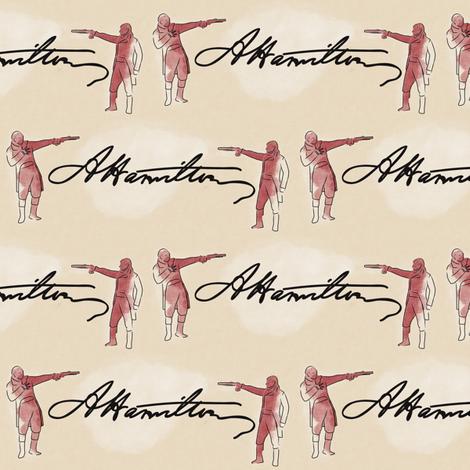 Hamilton Duel fabric by landpenguin on Spoonflower - custom fabric