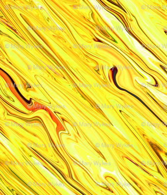 LY- Liquid Yellow Marbled, Diamonds on Point, Small