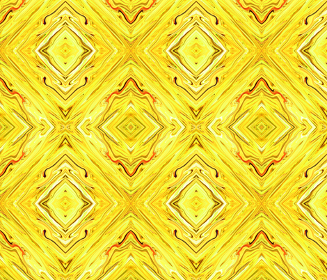 LY- Liquid Yellow Marbled, Diamonds on Point, Small fabric by maryyx on Spoonflower - custom fabric
