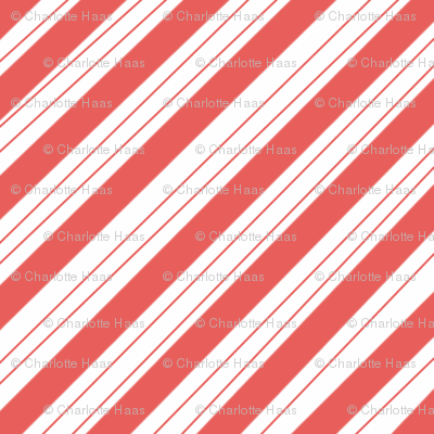 candy stripe red