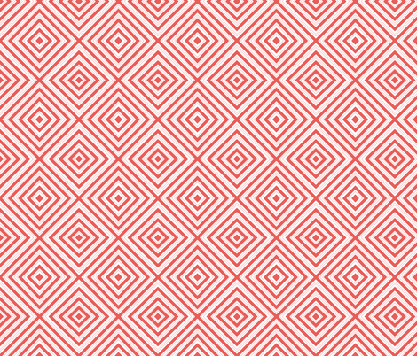 candy stripe red fabric by luvinewe on Spoonflower - custom fabric