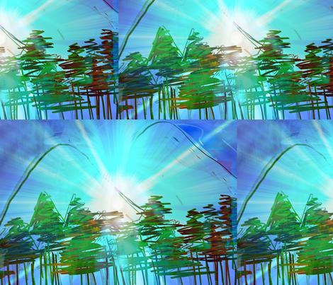 Aurora Mystery fabric by menny on Spoonflower - custom fabric