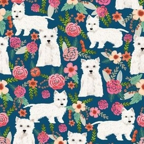 westie florals fabric cute west highland terrier dog design best westies florals fabric cute dogs design