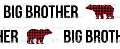 big brother fabric bear plaid bear brother boys fabric