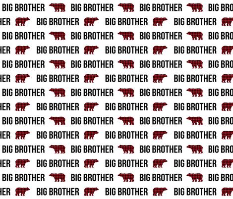 big brother fabric bear plaid bear brother boys fabric fabric by charlottewinter on Spoonflower - custom fabric