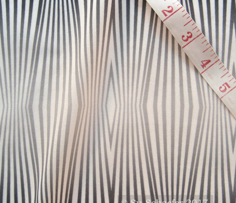 Fade to gray, zebra diamond stripes on palest gray by Su_G_©SuSchaefer