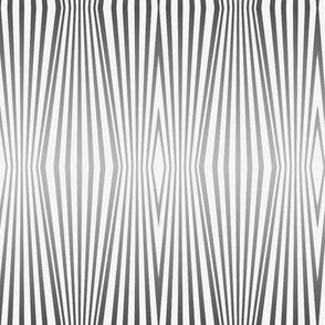 Fade to gray, zebra diamond stripes on palest gray by Su_G
