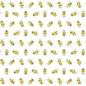 Bee Pattern White