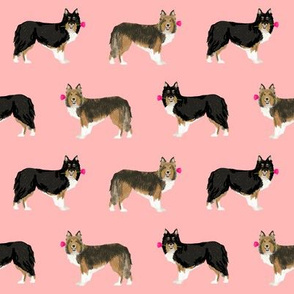 sheltie fabric rose sheltie shetland sheepdog fabric best love dog fabric cute shelties design