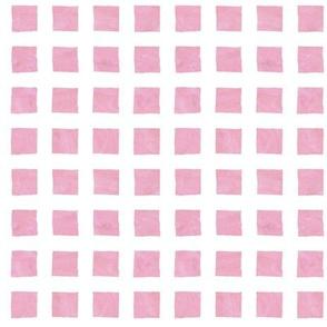 watercolor grid || pink