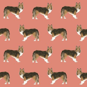 sheltie fabric sable and white shetland sheepdog design cute sheltie dog fabric