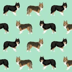 sheltie dog fabric tri colored black and tan sheltie shetland sheepdog sable and white dogs, best dog fabric