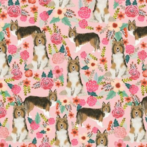 sheltie floral fabric shetland sheepdog fabrics sheltie dog design best vintage florals fabric