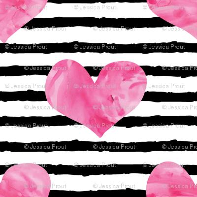 watercolor hearts || stripes 2
