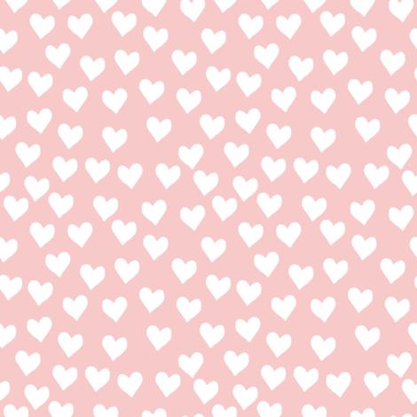 hearts || rose quartz fabric by littlearrowdesign on Spoonflower - custom fabric