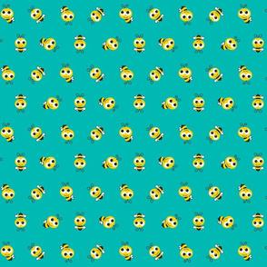 Bee Pattern Aqua