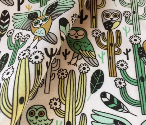 desert owls - white