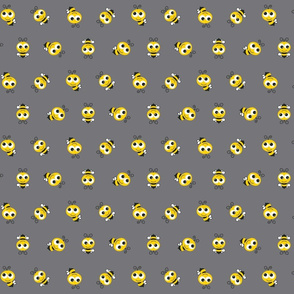 Bee Pattern Gray