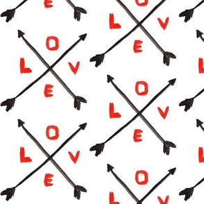 Valentine love arrow