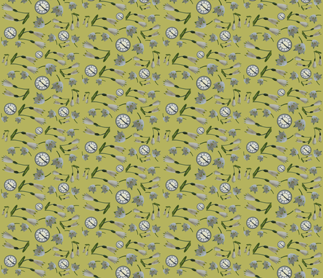 Springtime in yellow fabric by redthanet on Spoonflower - custom fabric