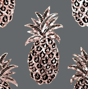 Tropical gray gold pineapples