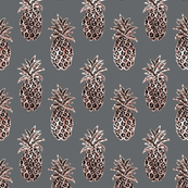 Tropical grey gold pineapples