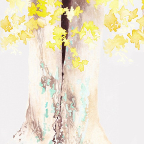 Yellow and Turquoise Tree