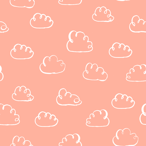 cloud clouds fabric cloud baby nursery fabric fabric by charlottewinter on Spoonflower - custom fabric