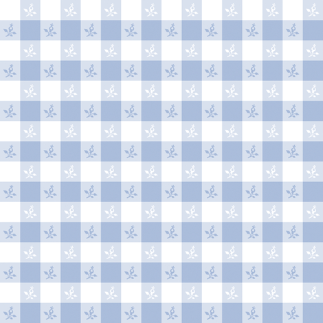 Cottage Picnic Check blueberry fabric by lilyoake on Spoonflower - custom fabric