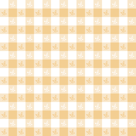 Cottage Picnic Check buttercup fabric by lilyoake on Spoonflower - custom fabric