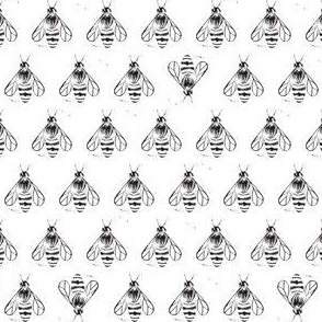 Honey bee I love thee // monochrome black