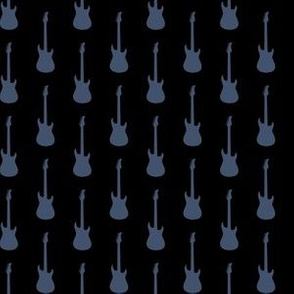 Blue Jeans Blue Electric Guitars on Black