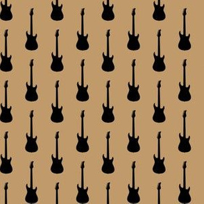 Black Electric Guitars on Camel Brown