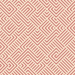 Coral and Champagne Chinese Maze