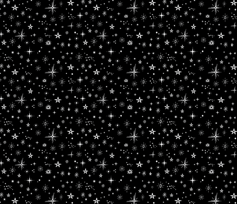 Stars  fabric by larkandlamb on Spoonflower - custom fabric