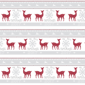first christmas 7 - berry deer snowflakes - mist