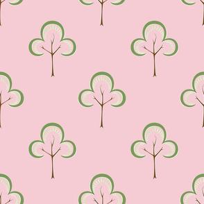Spring Tree on Pink
