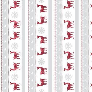 Harbour christmas 5 VERTICAL- berry deer snowflakes - mist