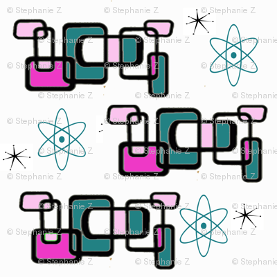 Mod 1950s Pink and Turquoise