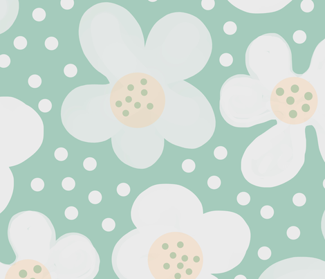 snowdrops fabric by bunyipdesigns on Spoonflower - custom fabric