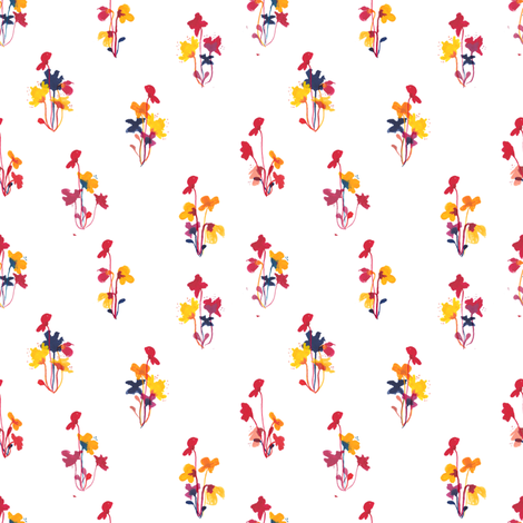 bouquet white fabric by meissa on Spoonflower - custom fabric