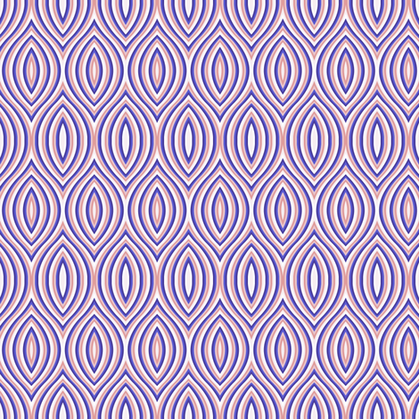 The eyes have it -- in periwinkle and peach fabric by bargello_stripes on Spoonflower - custom fabric