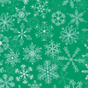 Christmas Howdy: Snow - Green