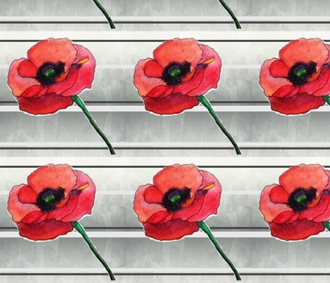Poppies on Grey fabric by floramoon on Spoonflower - custom fabric