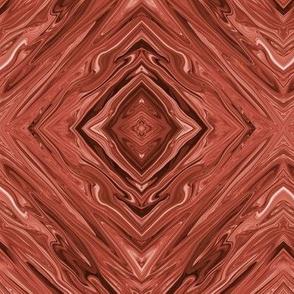 Liquid Rusty Brown Marble,  Diamonds on Point, small